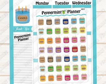 Candle Planner Stickers --- 663