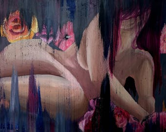 Seduction (oil painting, original, 40 x 50 cm)