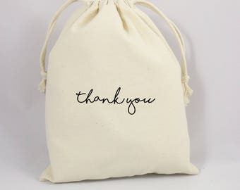 Thank You Gift Bag, Guest Gift Bag, Canvas Party Bag, Thank You Party Favor Bag, Goodie Bag