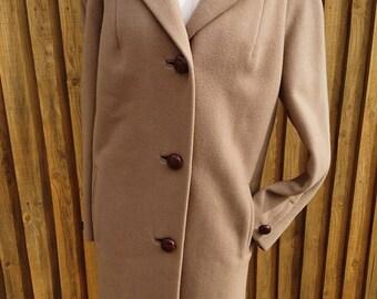 Fab 1950's pure wool ladies camel coat, vintage coats