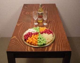 1:6 Scale Food - Deli Party Tray Cheese and Grapes - for Barbie Momoko, Blythe, Pullip, Fashion Royalty and other dolls - OOAK