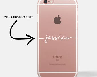 personalised handwritten iPhone case, personalized iPhone 7 case, personalized iPhone 8 case, personalized iPhone 6 case [UK MADE]