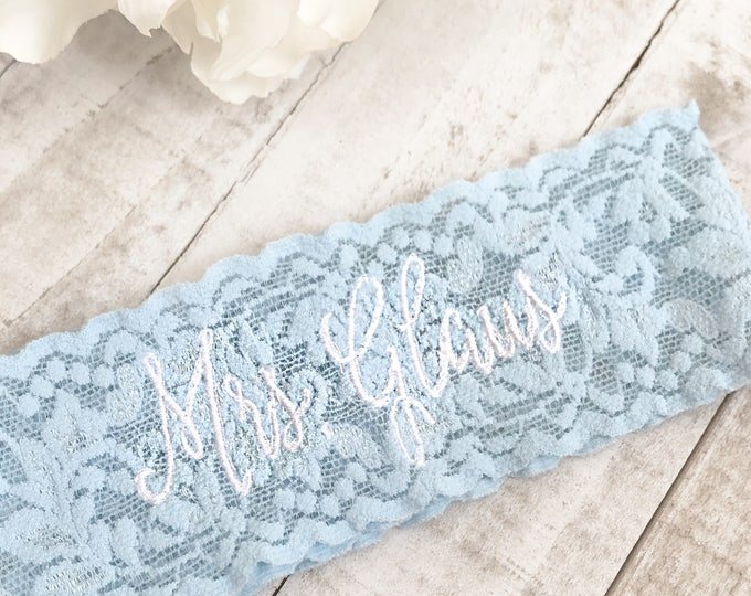 Embroidered Wedding garter, something blue, embroidered bridal garter, something blue, custom wedding garters
