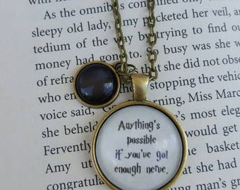 Anything's Possible Necklace/ Harry Potter Jewelry/ Ginny Weasley/ Birthday Gift/ Harry Potter Bridal/ Bridesmaid Gifts/ Gift for Girls