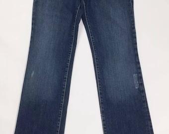 Straight leg jeans slim straight fit kycut 42 woman used W28 denim T2152