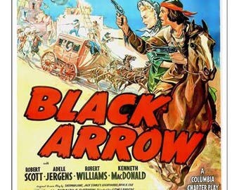 Black Arrow Play Movie Poster Art - Vintage Print Art - Home Decor Theater