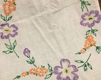 Sweet Vintage Embroidered Table Runner