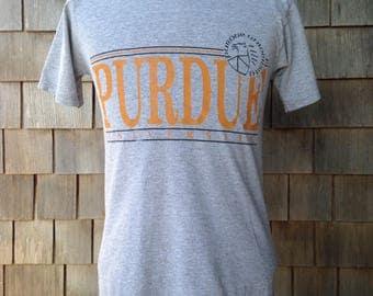 Vintage 90s Purdue University Boilermakers T Shirt - Small