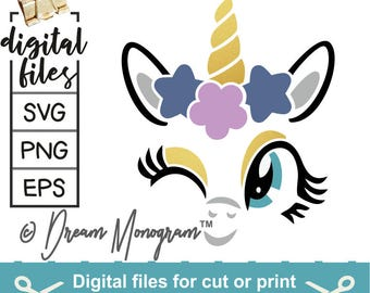 Unicorn Svg, Unicorn lashes svg, Lashes svg, Unicorn face svg, Unicorn head Svg, Cutting files for use with Silhouette Cameo, Cricut