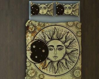 Sun And Moon Blanket, Blanket Sun And Moon, Sun And Moon, Sun And Moon Bedding Set, Queen Bedding Sun And Moon, Sun Moon, Sun Moon Blanket