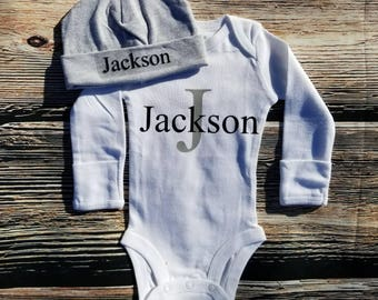 Personalized Bodysuit, Monogram bodysuit, Baby Shower gift
