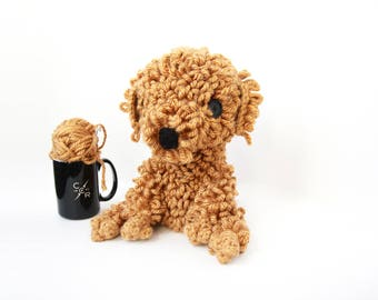 Crochet Goldendoodle, Labradoodle – stuffed animal toy, handmade to order