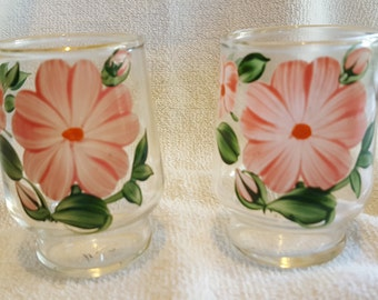 2 Federal Glass juice tumblers