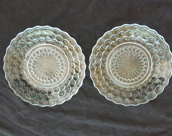 2 Anchor Hocking Bubble Plates
