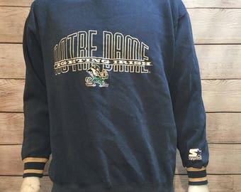 Rare Vintage Notre Dame Starter Sweatshirt