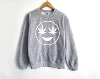 Emoji Sweater - Weed Sweatshirt - 420 Shirt - Dank And Dabby Shirt - Disjointed Shirt - Stoner Shirt - Stoner Gifts - Weed - California