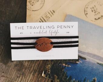 Mountain Wrap Bracelet, Mountain Range Jewelry, Adventure Bracelet, Colorado Gift, Mountain Gift, Hiking Bracelet, Valentines Day Gift