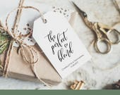 The Perfect Blend Favor Tag Template, Wedding Favor tag Printable, Instant Download Editable PDF, Wedding Coffee Gift Tag, WLP598