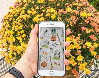 Instant Download - Halloween iPhone Background
