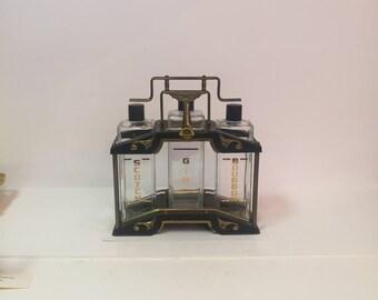 Vintage Art Deco style decanter tantalus set