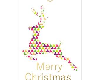 Christmas Tags - Modern Geometric - Instant download, printable