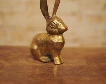 Vintage Brass Hare Ornament