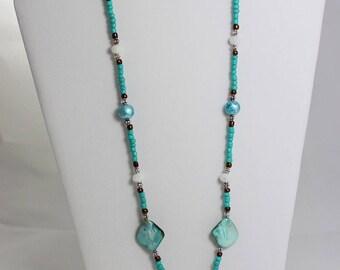 Seashells By The Seashore Beaded Necklace