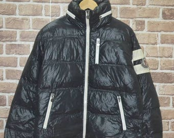 Vintage 90s Moncler Bomber down Jacket gore tex bomber puffer down wet look bubble ski jacket