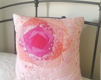 Quilted Rose pillow