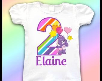 Care Bears Birthday Tee Shirt / 1st, 2nd, 3rd, 4th, Birthday Shirt / Birthday Girl Shirts / Care Bears Birthday Party Shirt, Care Bears