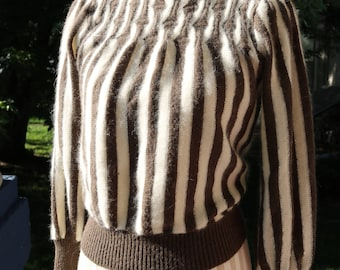 80s Striped Knit Sweater
