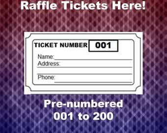 Raffle Ticket Template, 8 Blank Raffle Tickets Per Page, Party Work Christmas Raffle Tickets, Printable Page, PDF, Instant Download