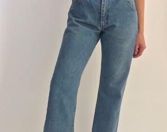 Vintage 32 Waist Blue Lee Jeans | Vintage lee stonewash jeans | vintage women lee Denim made USA | 90s denim mom lee jean