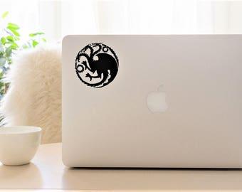 Decal {Game of Thrones sigil House Targaryen}-Laptop Decal/Laptop Sticker/Phone decal/Phone sticker/Car Sticker/Car Decal/Window Decal