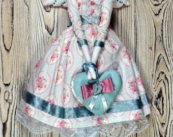 Angel Tilda doll cloth doll tilda ragdoll Interior doll  Fabric doll art doll angel Tilda dolls home decor doll collectible doll textile