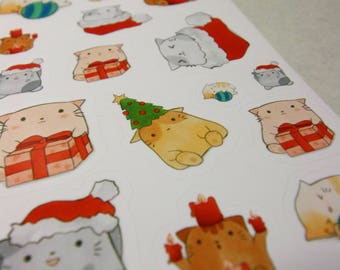"Sticker ""Christmas Cat"" (glossy)"