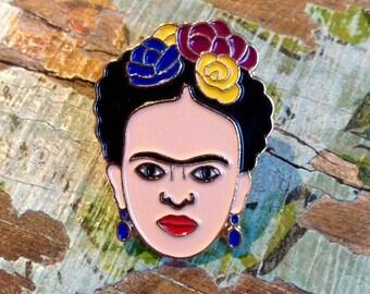Mexican Frida Kahlo Metal Enamel Pin Badge