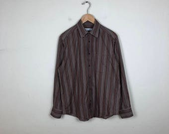 70s Striped Button Up Size Medium