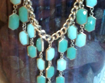 Pale Green Toned Necklace-