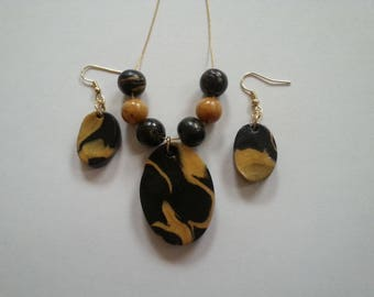 Marbled Polymer Clay Jewelry
