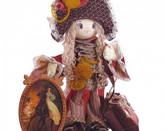 Milady Girl textile Doll Sewing Kit  Textile carcass doll with individual traits Kit Nova Sloboda