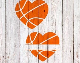 Basketball Heart SVG