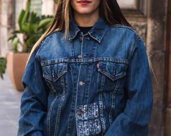 Vintage denim Jeans Jacket Levi's Cod. 9-64 BIG E