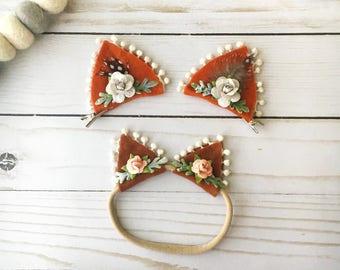Itty Bitty Kitty Ears - Cat Ears Headband - Dress Up For Girls - Cat Headband - Cat Ear Clips - Halloween Costumes - Boho Baby - Kitty Ears
