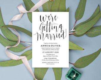 Rustic wedding invitation template download, Editable wedding invitation, Printable wedding invitation rustic, Editable invitation rustic