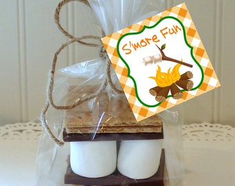 FALL S'MORES TAGS, Printable PartyTags, Bon Fire S'mores Bar, Fall Wedding Favors, Thanksgiving Favors, Smores label, Printable Smores Tags