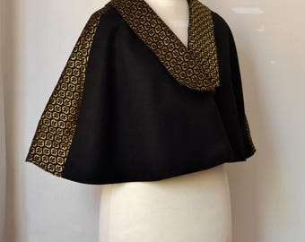 MADE TO ORDER - Any size or Fabric. Opera Cape with Colla.