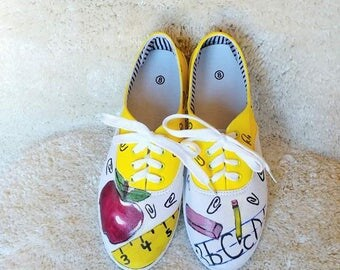 Hand Painted Teachers Shoes-
