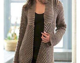 Ladies Stylish Fashion Jacket, Knitting Pattern