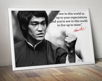 Bruce Lee Inspirational / Motivational Poster
